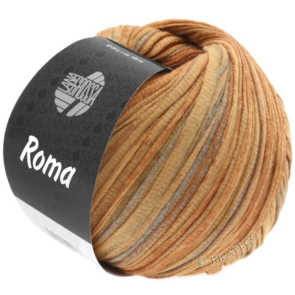 Lana Grossa ROMA | 029-золотисто-коричневый/медь/серебряный
