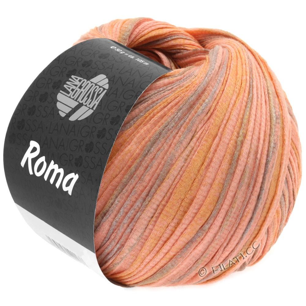 Lana Grossa ROMA | 030-лососевый/золотой/серебряный