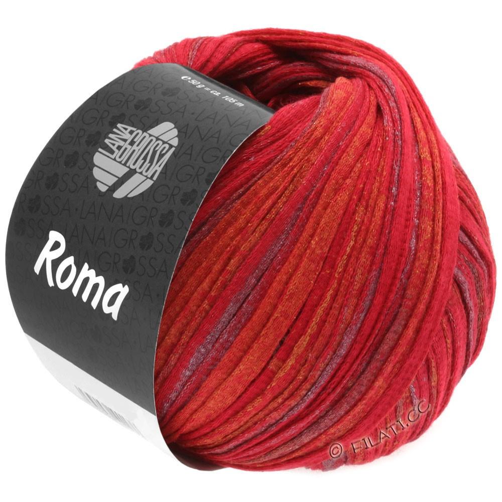 Lana Grossa ROMA | 031-красный/золотой/серебряный