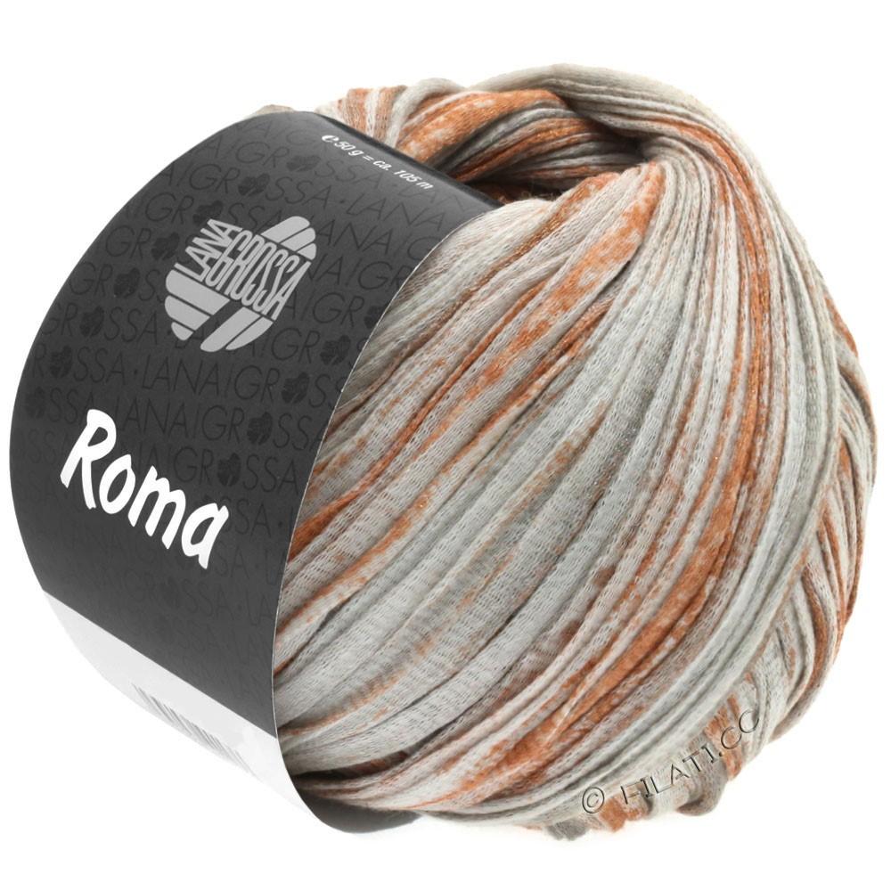 Lana Grossa ROMA | 033-белый/медь/серебряный