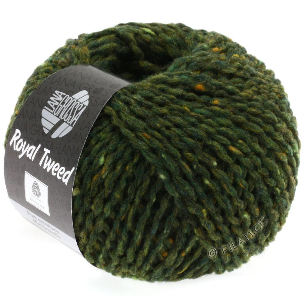 Lana Grossa ROYAL TWEED (королевский твид) | 03-темно-зеленый смешанный
