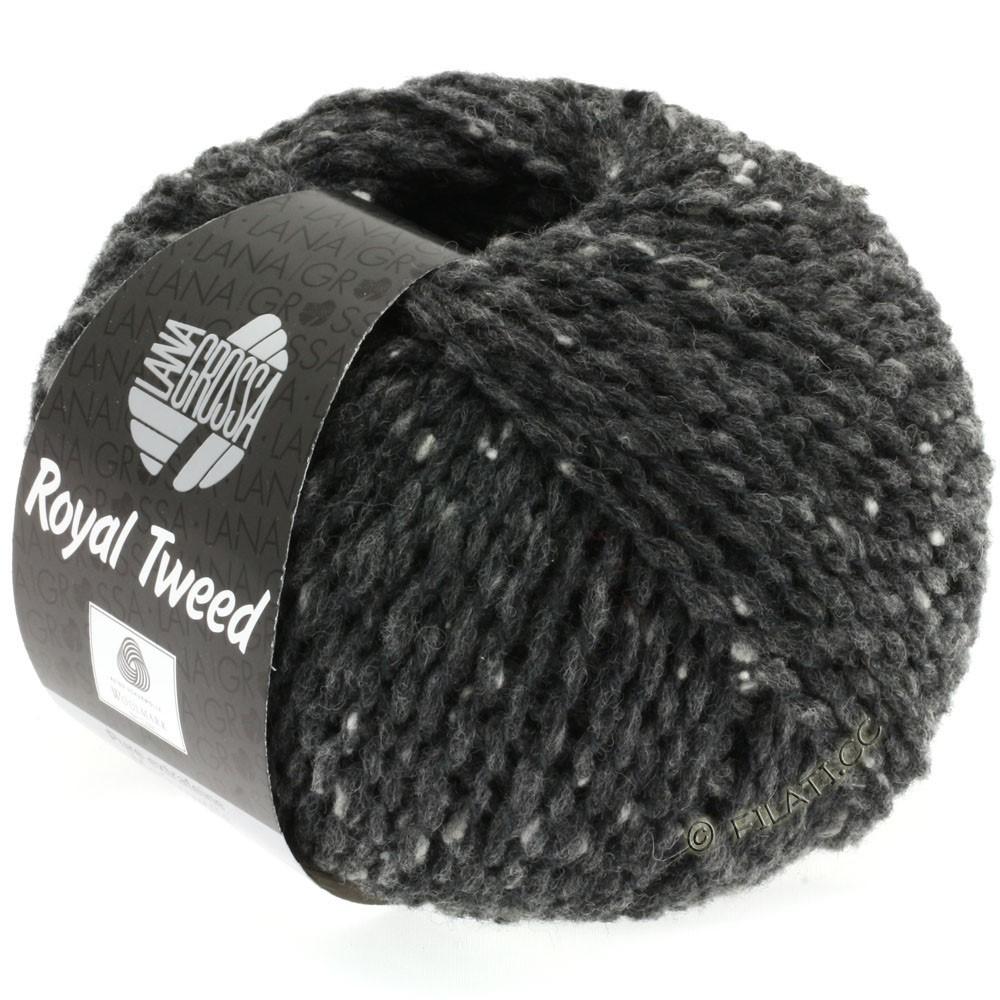 Lana Grossa ROYAL TWEED (королевский твид) | 06-антрацитовый меланжевый
