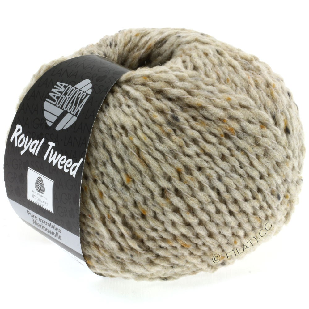 Lana Grossa ROYAL TWEED (королевский твид) | 08-светло-бежевый смешанный