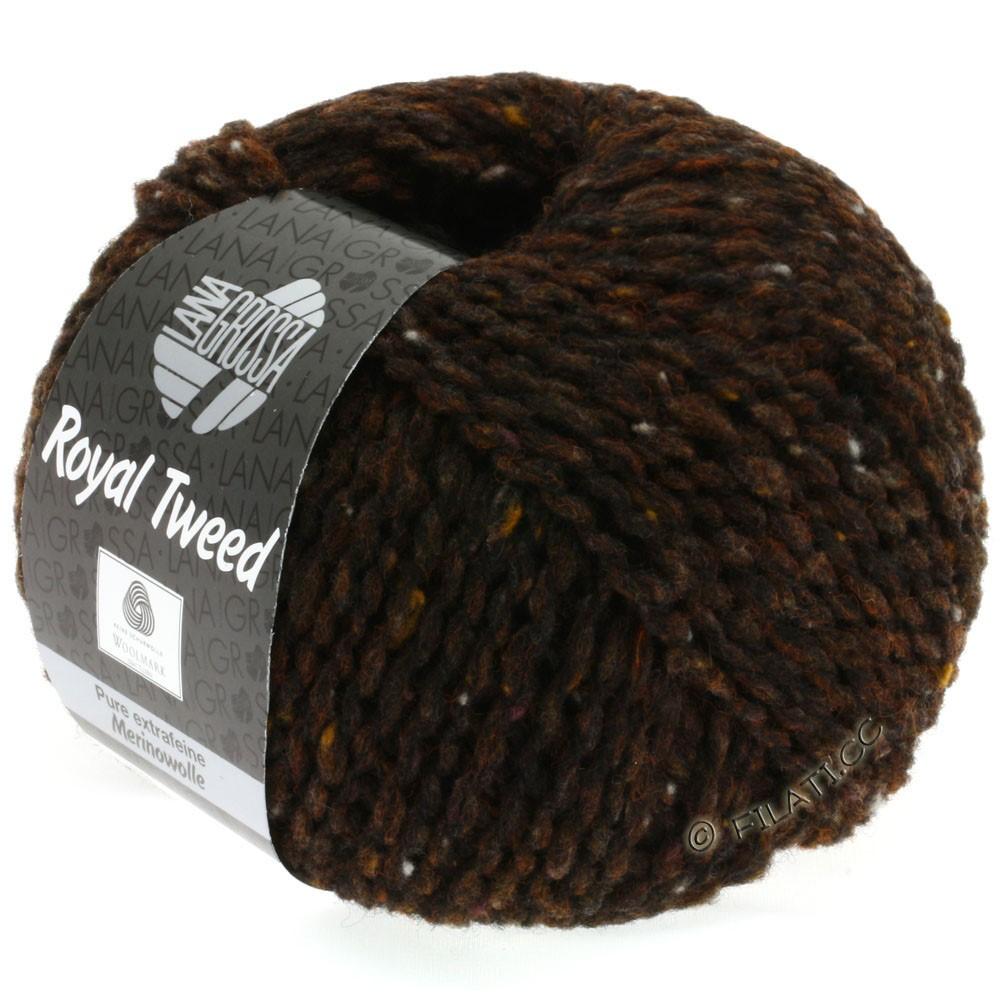 Lana Grossa ROYAL TWEED (королевский твид) | 09-тёмно-коричневый меланжевый