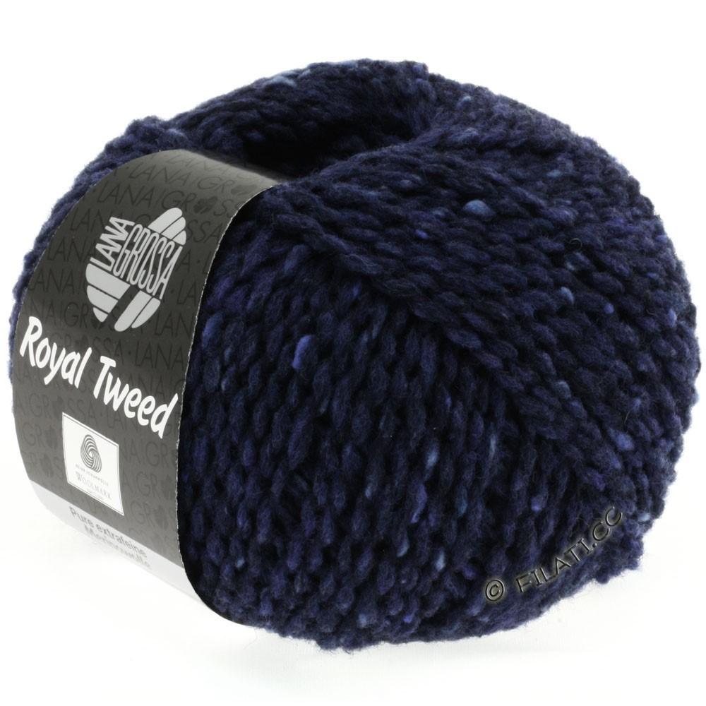 Lana Grossa ROYAL TWEED (королевский твид) | 11-синий меланжевый
