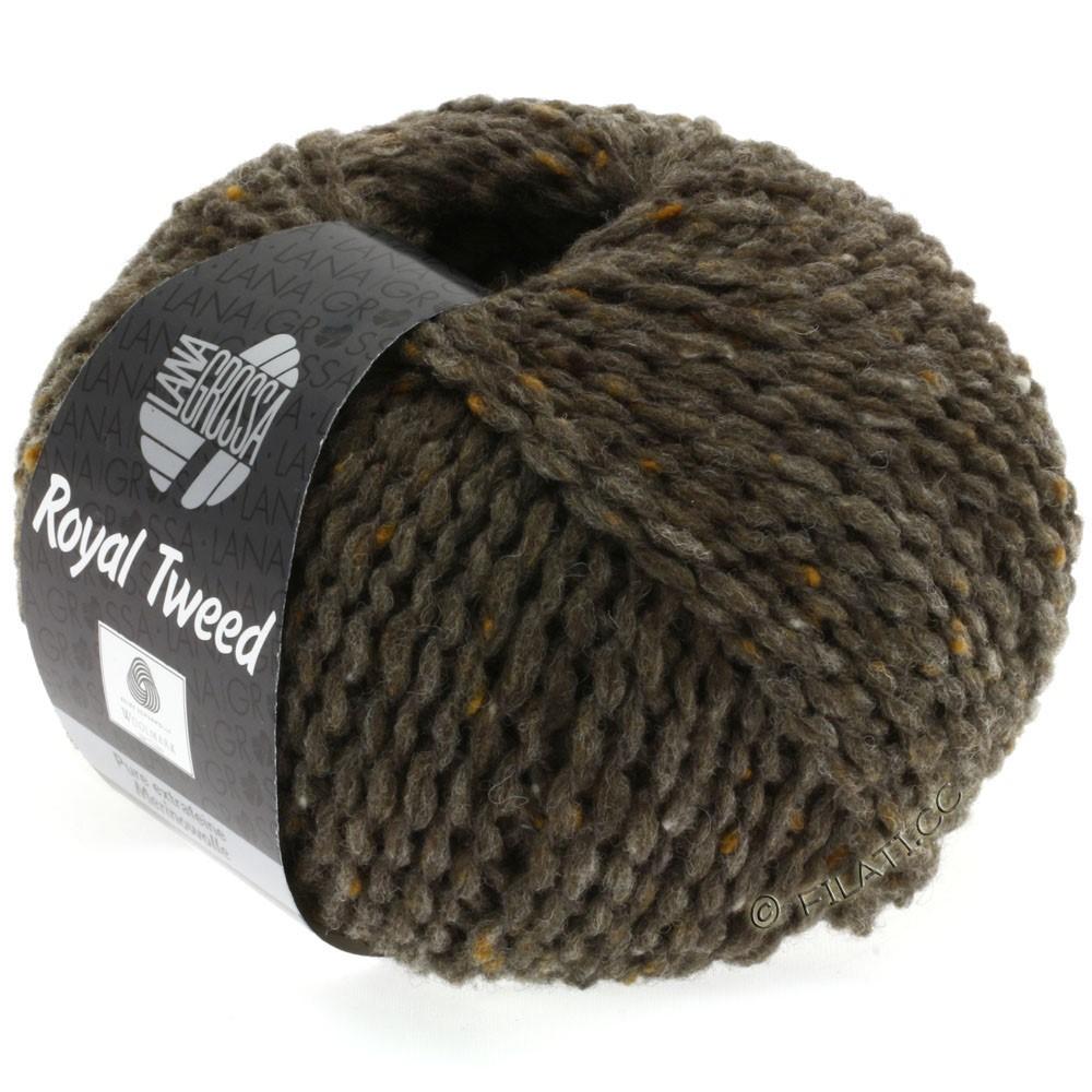Lana Grossa ROYAL TWEED (королевский твид) | 12-серо-коричневый меланжевый