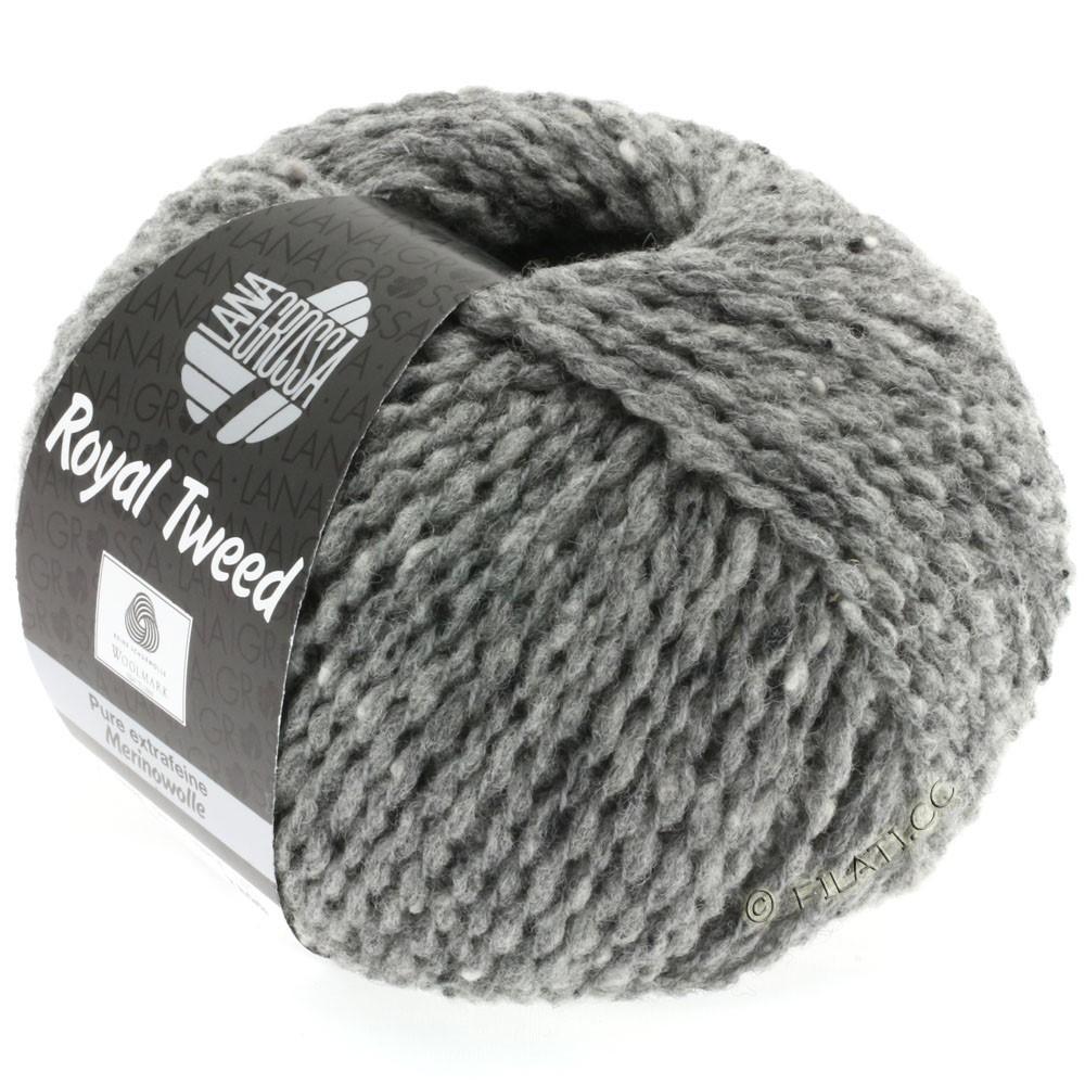 Lana Grossa ROYAL TWEED (королевский твид) | 14-серый меланжевый