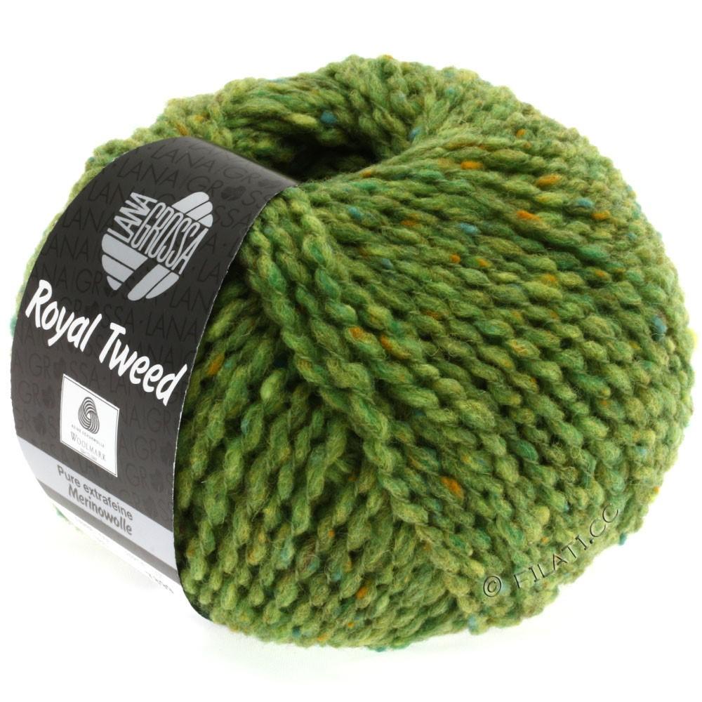 Lana Grossa ROYAL TWEED (королевский твид) | 52-светло-зелёный меланжевый