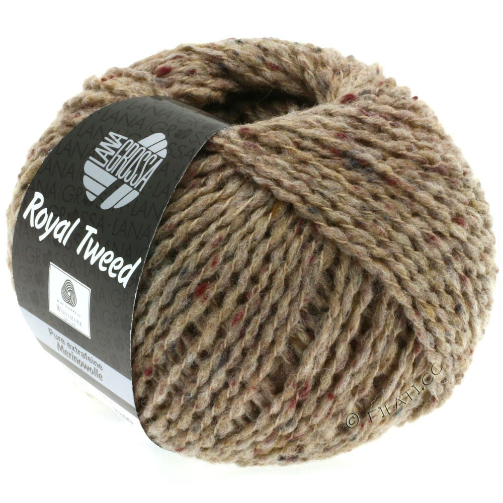 Lana Grossa ROYAL TWEED (королевский твид) | 59-серо-коричневый