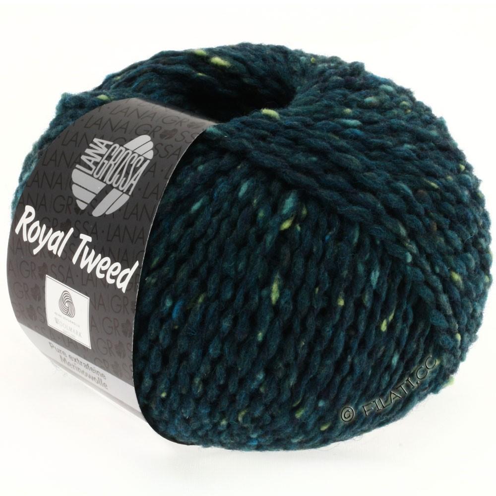 Lana Grossa ROYAL TWEED (королевский твид) | 76-тёмно сине-зеленый меланжевый
