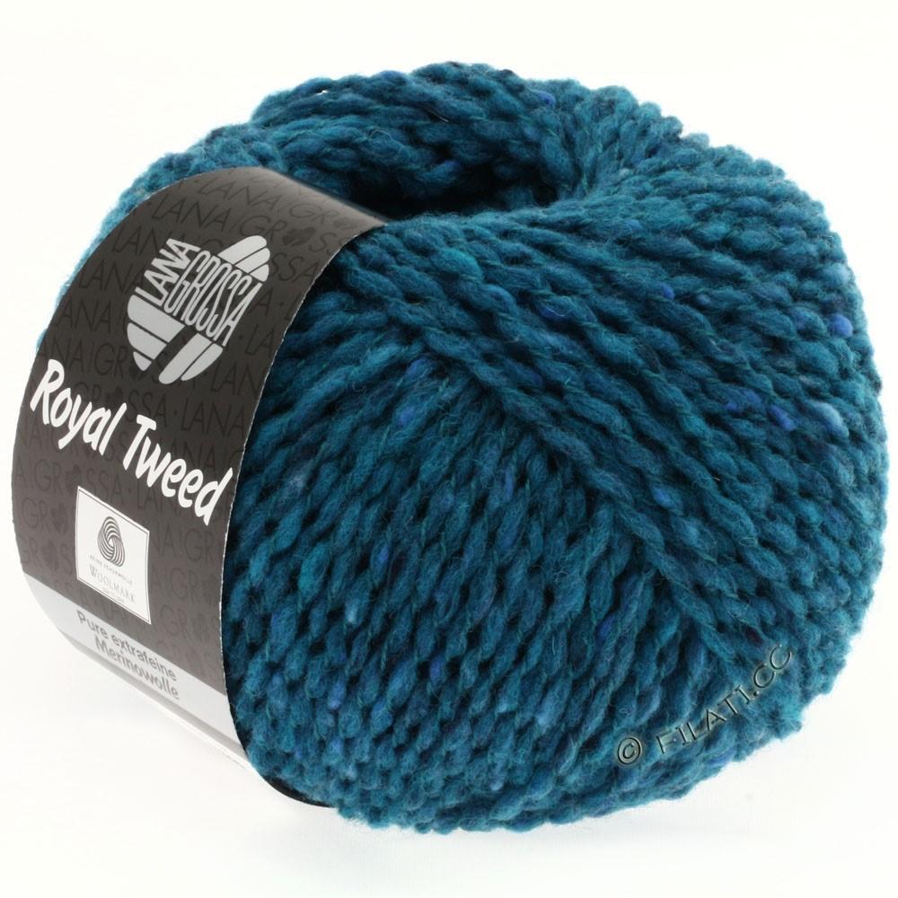 Lana Grossa ROYAL TWEED (королевский твид) | 77-петроль синий меланжевый