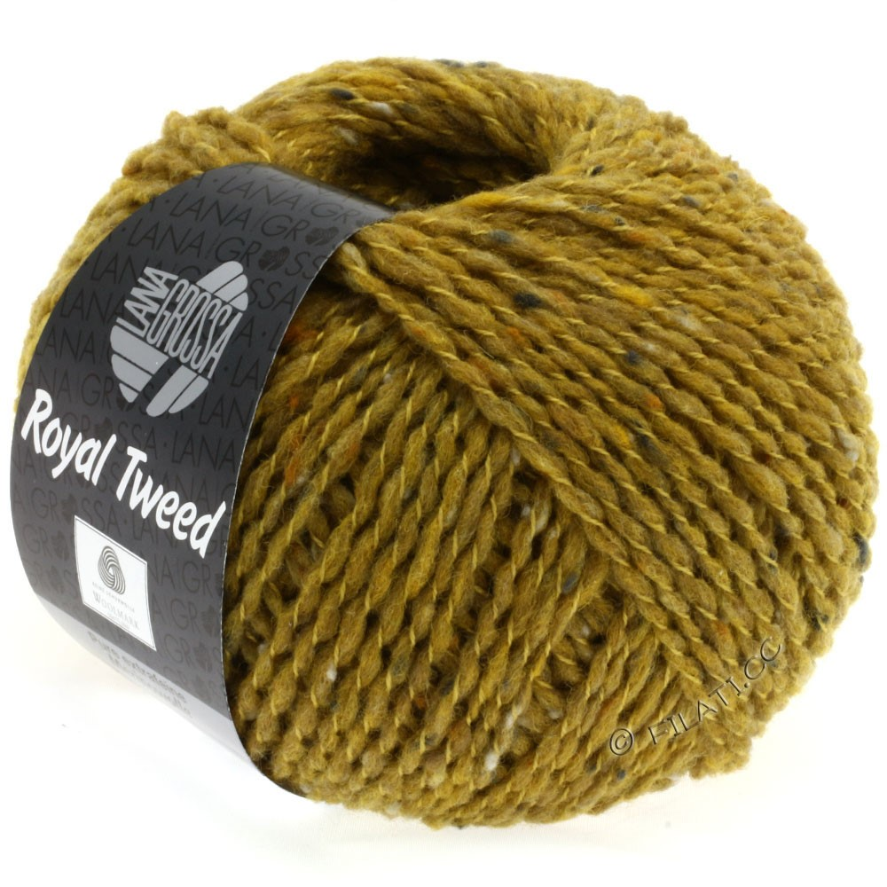 Lana Grossa ROYAL TWEED (королевский твид) | 80-горчичный меланжевый