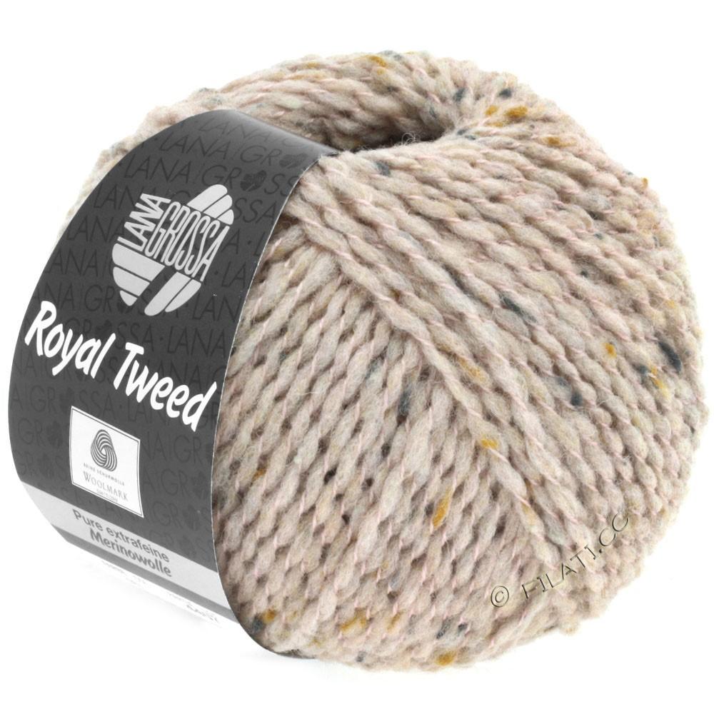 Lana Grossa ROYAL TWEED (королевский твид) | 81-кремово-розовый меланжевый
