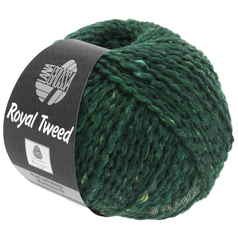 Lana Grossa ROYAL TWEED (королевский твид) | 90-тёмно-зелёный меланжевый