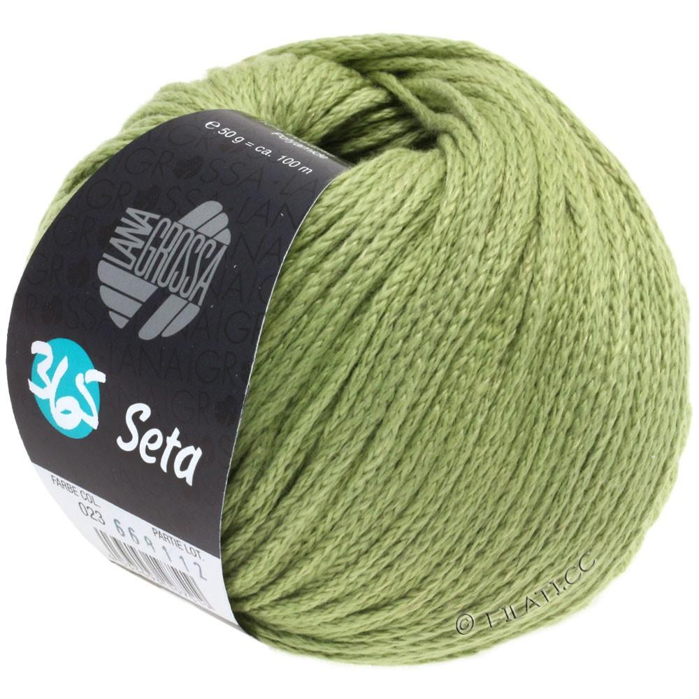 Lana Grossa 365 SETA | 23-пастельно-зелёный