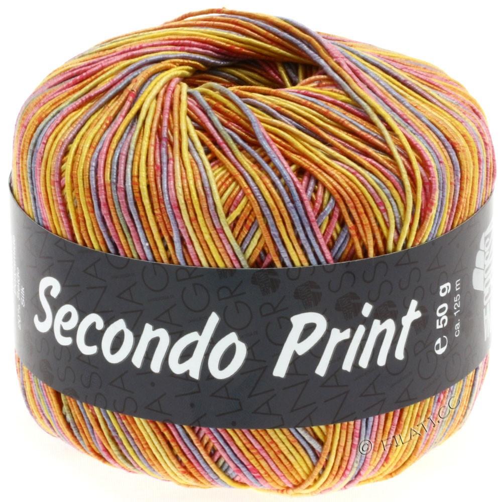 Lana Grossa SECONDO Print II | 501-жёлтый/оранжевый/пурпурный/пинк