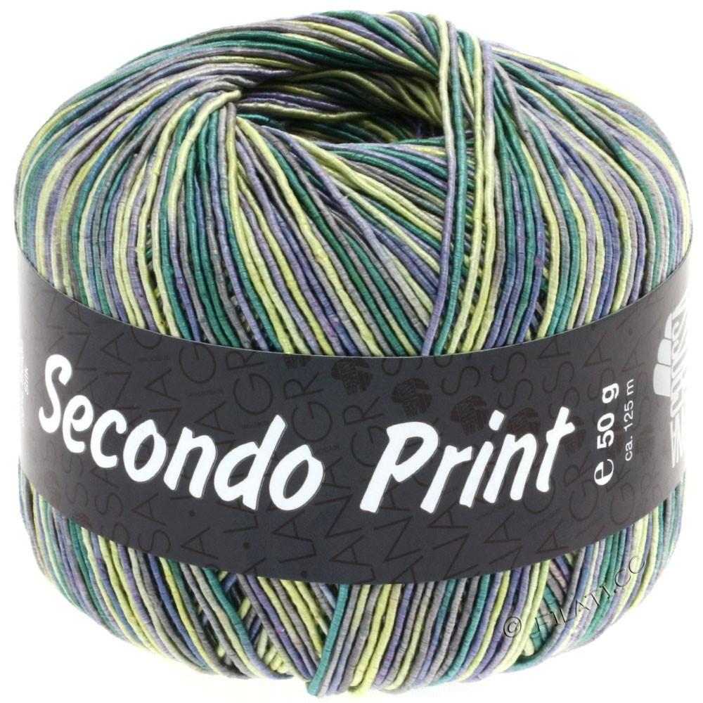 Lana Grossa SECONDO Print II | 506-джинс/жёлтый/изумрудный/тёмно-серый