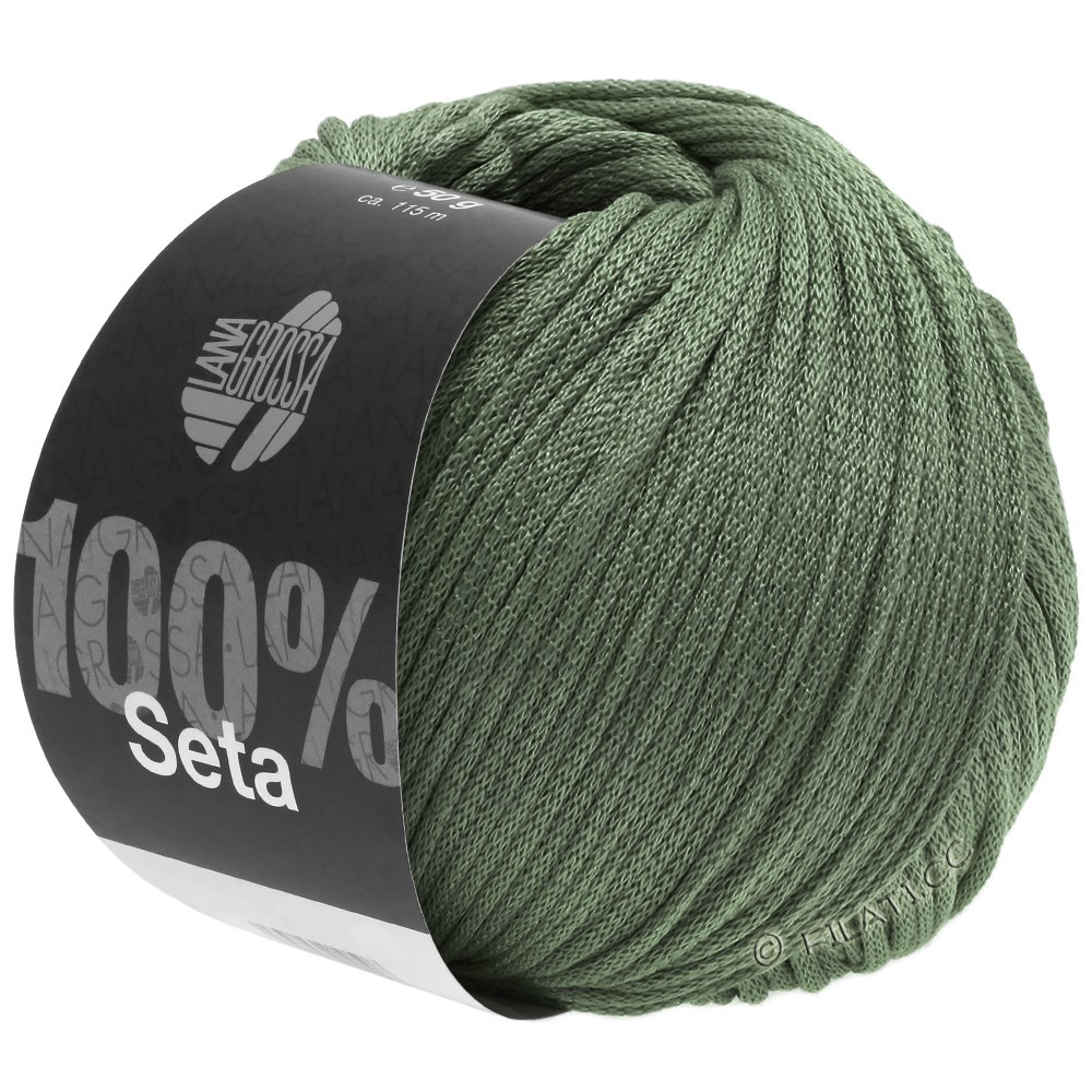 Lana Grossa SETA | 13-серо-зеленый