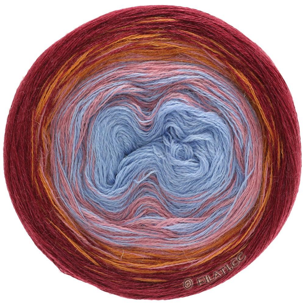 Lana Grossa SHADES OF ALPACA SILK   301-бордо/оранжевый/кремово-розовый/синий