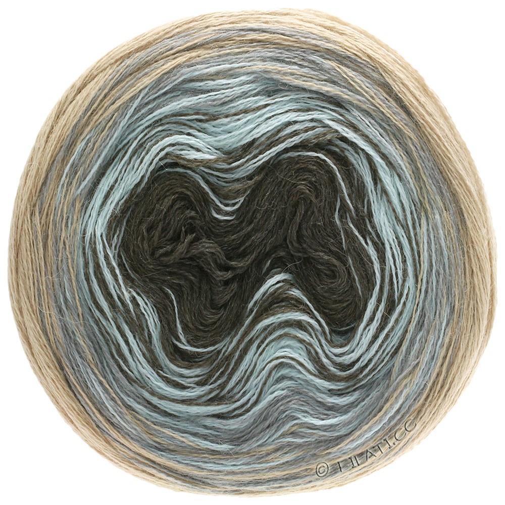 Lana Grossa SHADES OF ALPACA SILK   304-бежевый/светло-серый/зеленовато-голубой/кофе мокко