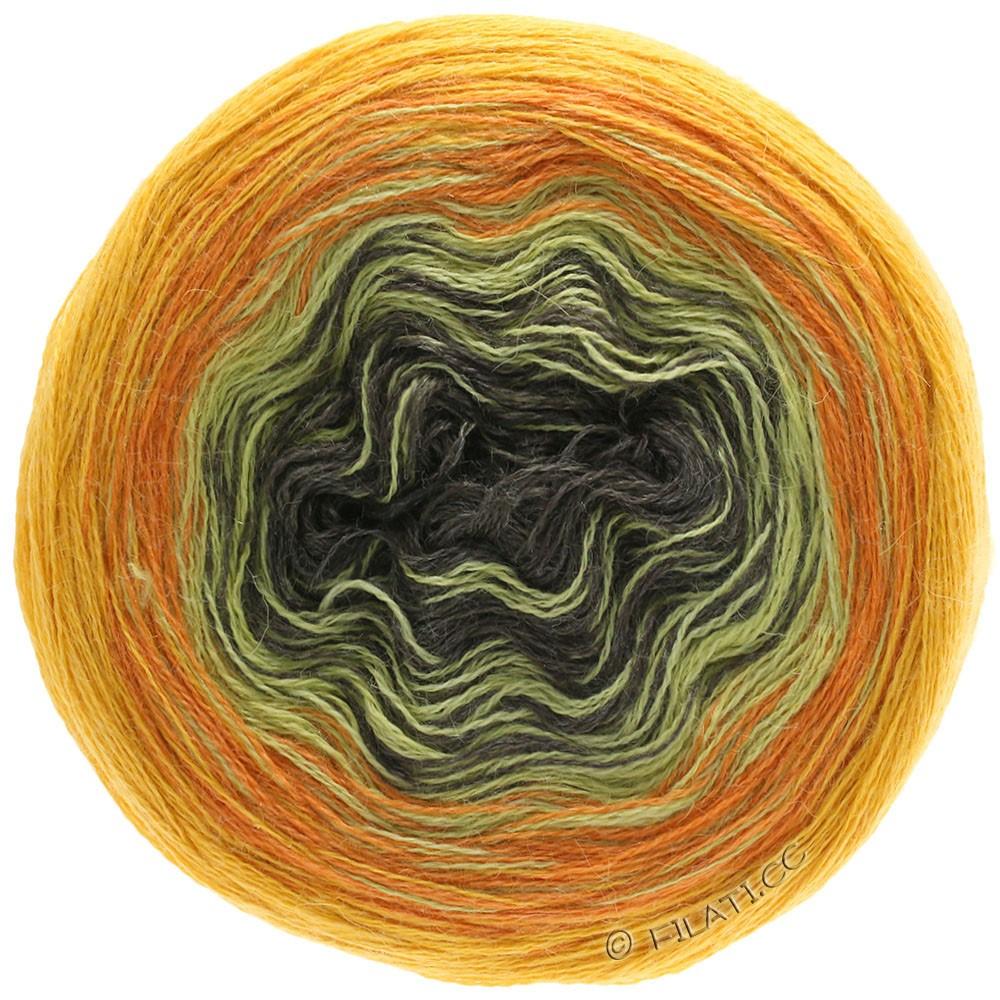Lana Grossa SHADES OF ALPACA SILK   308-желтое солнце/оранжевый/горчичный/кофе мокко