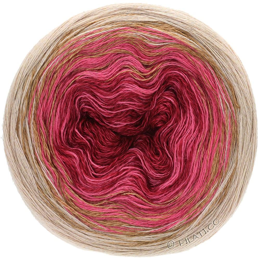 Lana Grossa SHADES OF MERINO COTTON | 407-бургунд/светло-красный/серо-бежевый/серо-коричневый