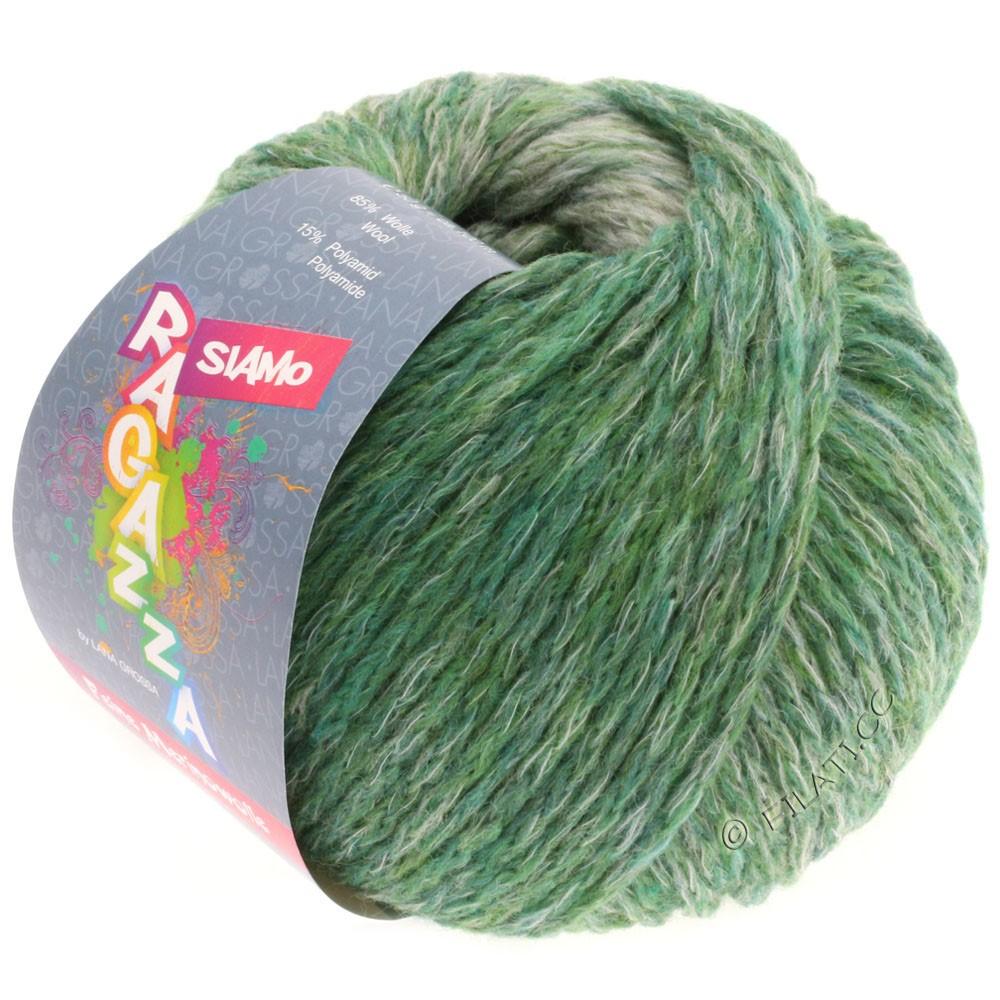 Lana Grossa SIAMO (Ragazza) | 01-зелёный/натуральный меланжевый