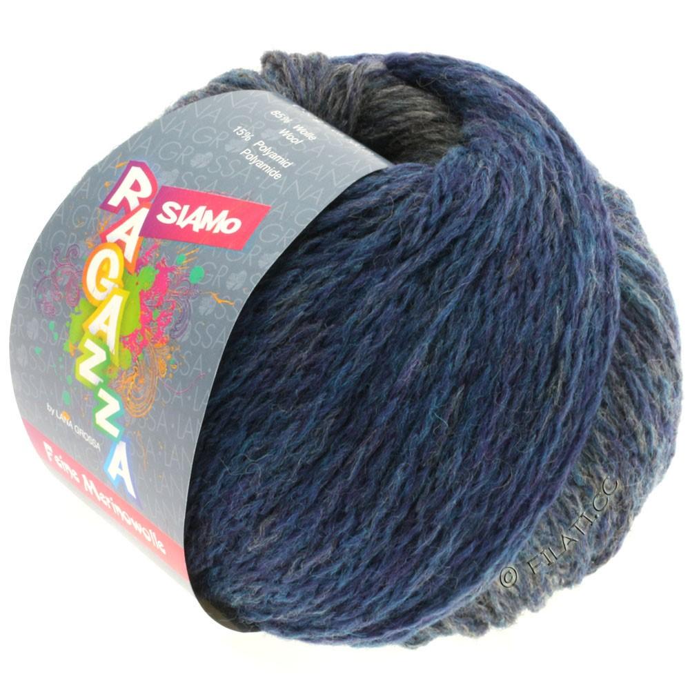 Lana Grossa SIAMO (Ragazza) | 06-синий/серый меланжевый