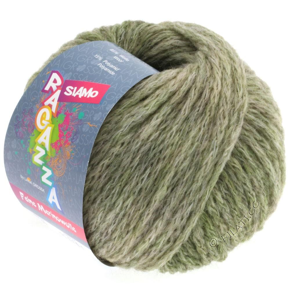 Lana Grossa SIAMO (Ragazza) | 07-оливковый/тростник меланжевый