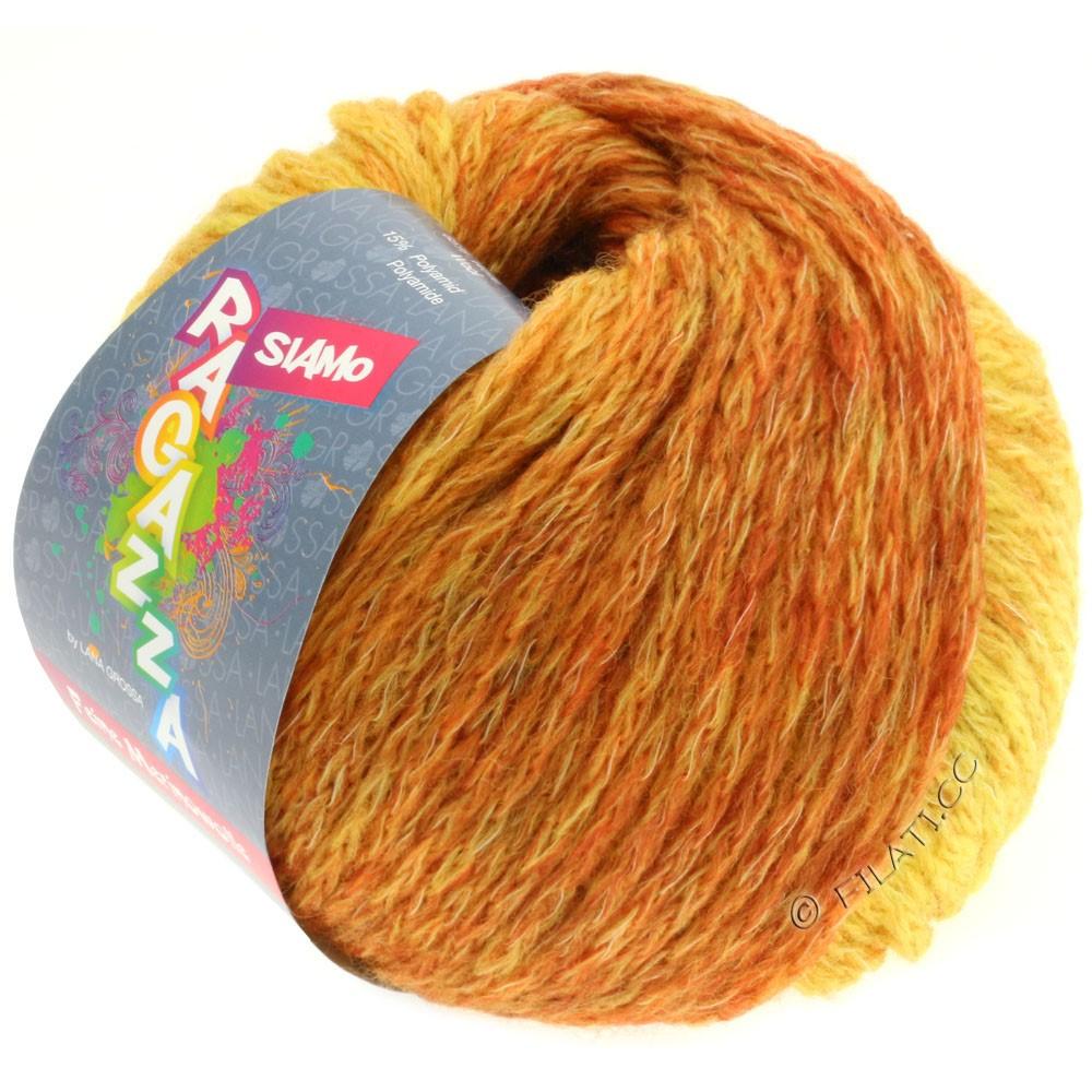 Lana Grossa SIAMO (Ragazza) | 08-жёлтый/цвет ржавчины меланжевый