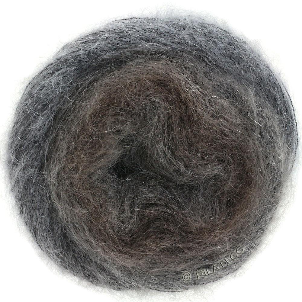 Lana Grossa SILKHAIR Degradé | 851-серо-коричневый/серо-коричневый/тёмно-серый
