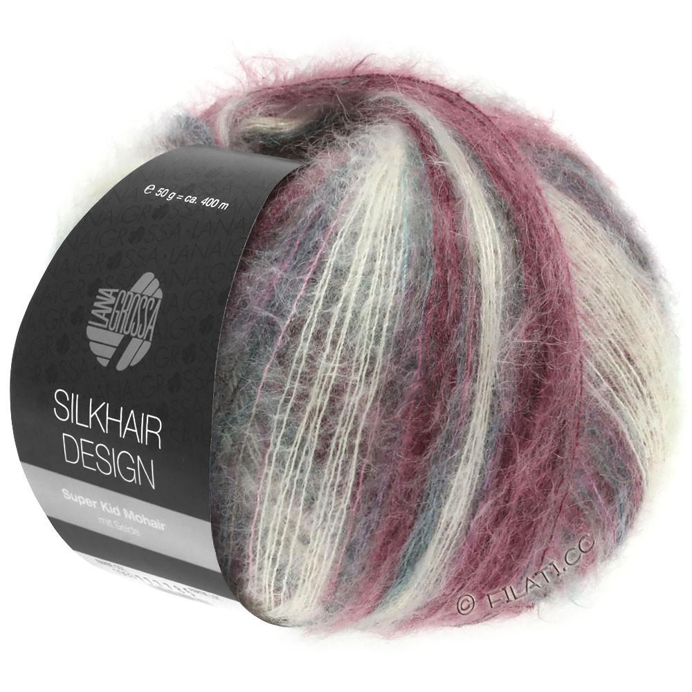 Lana Grossa SILKHAIR Design | 1003-натуральный/розовый/ежевика/графит
