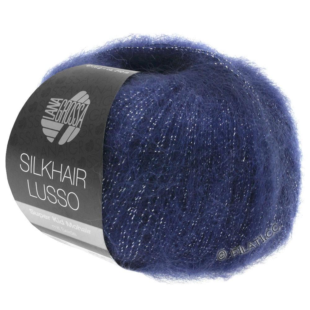 Lana Grossa SILKHAIR Lusso | 907-тёмно-синий