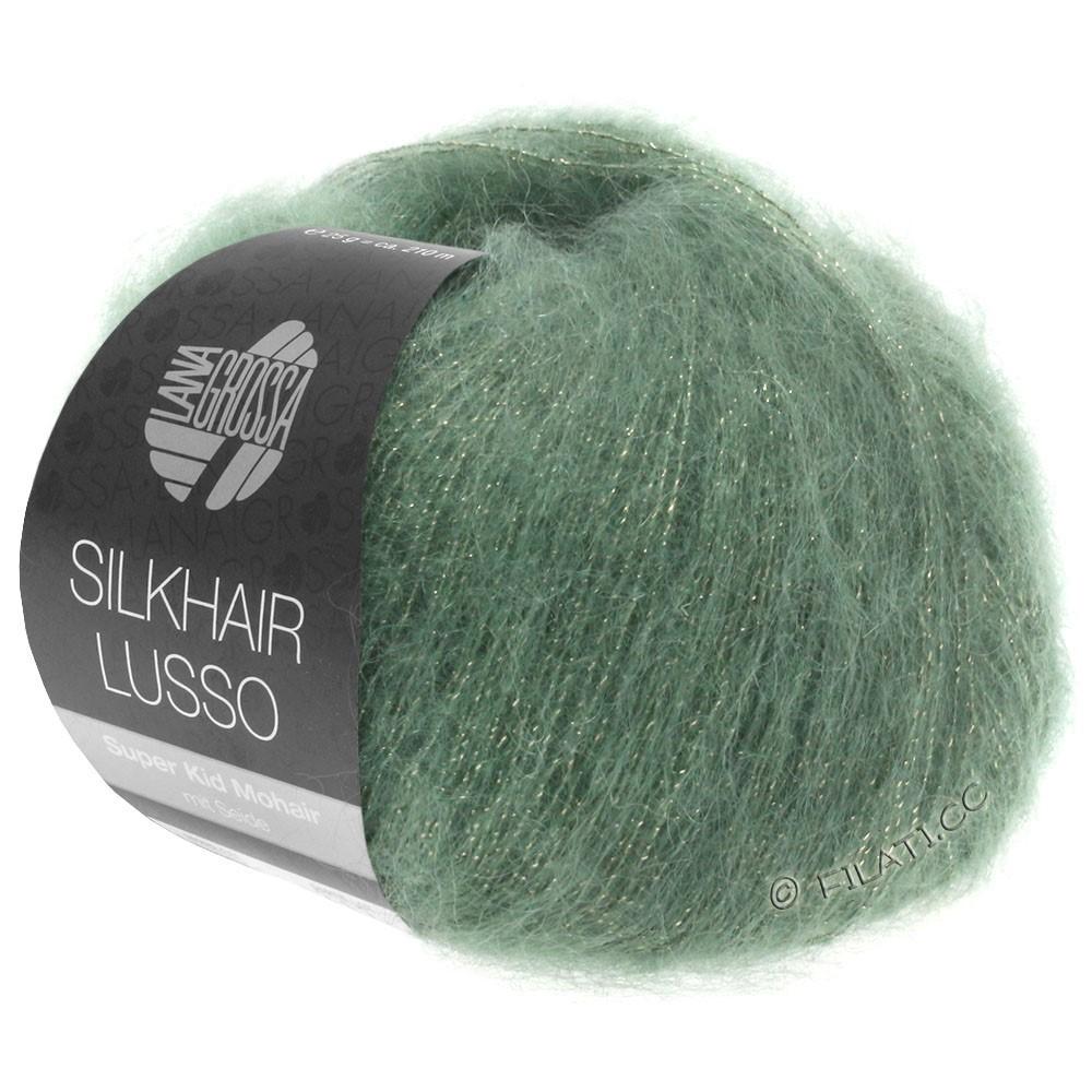Lana Grossa SILKHAIR Lusso | 911-зелёный