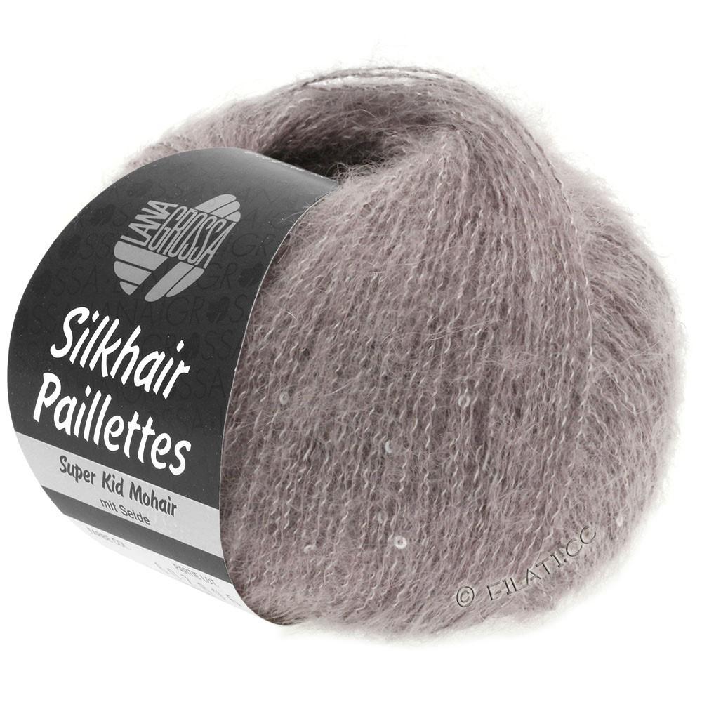 Lana Grossa SILKHAIR Paillettes | 404-серо-коричневый