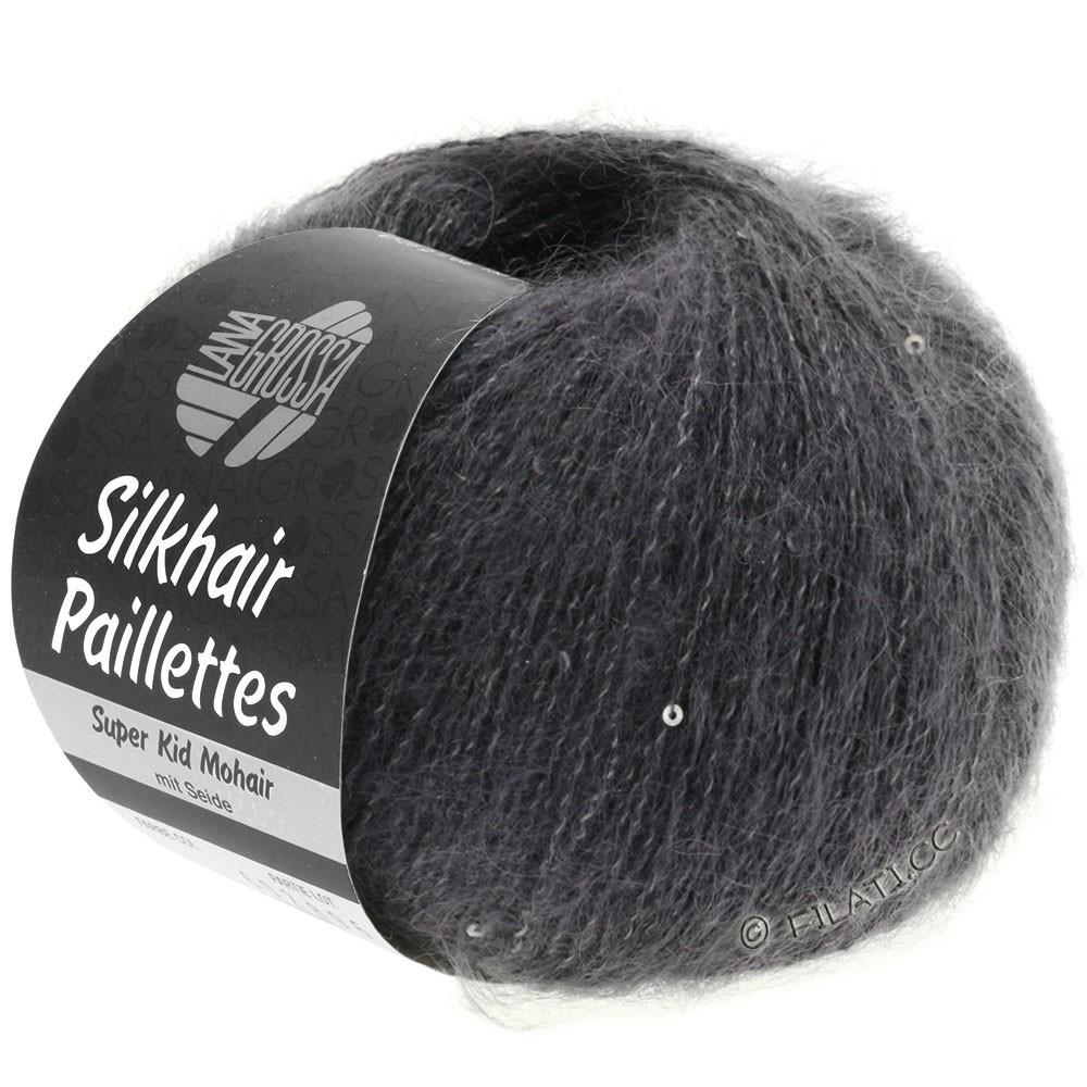 Lana Grossa SILKHAIR Paillettes | 406-антрацитовый
