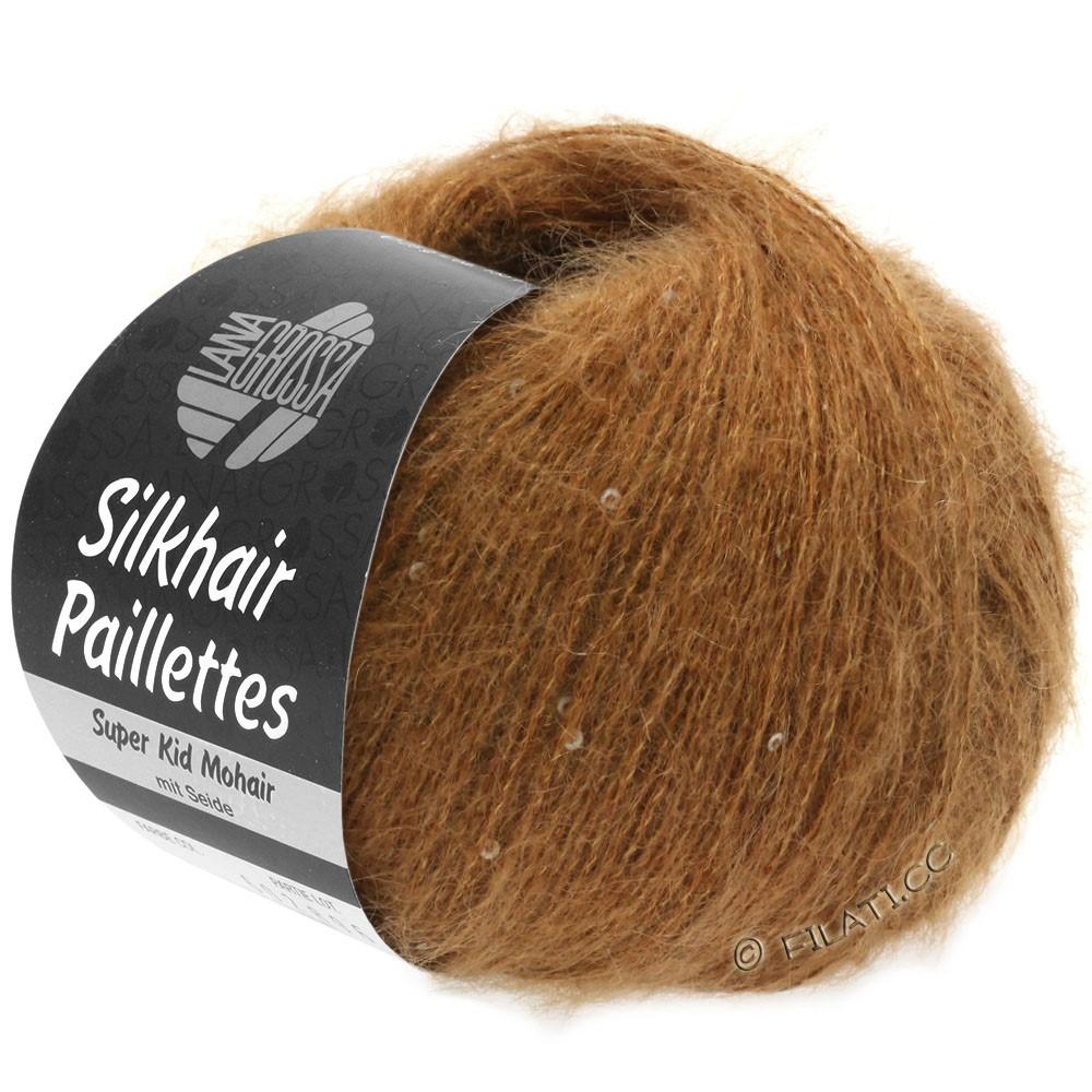Lana Grossa SILKHAIR Paillettes | 418-светло-коричневый