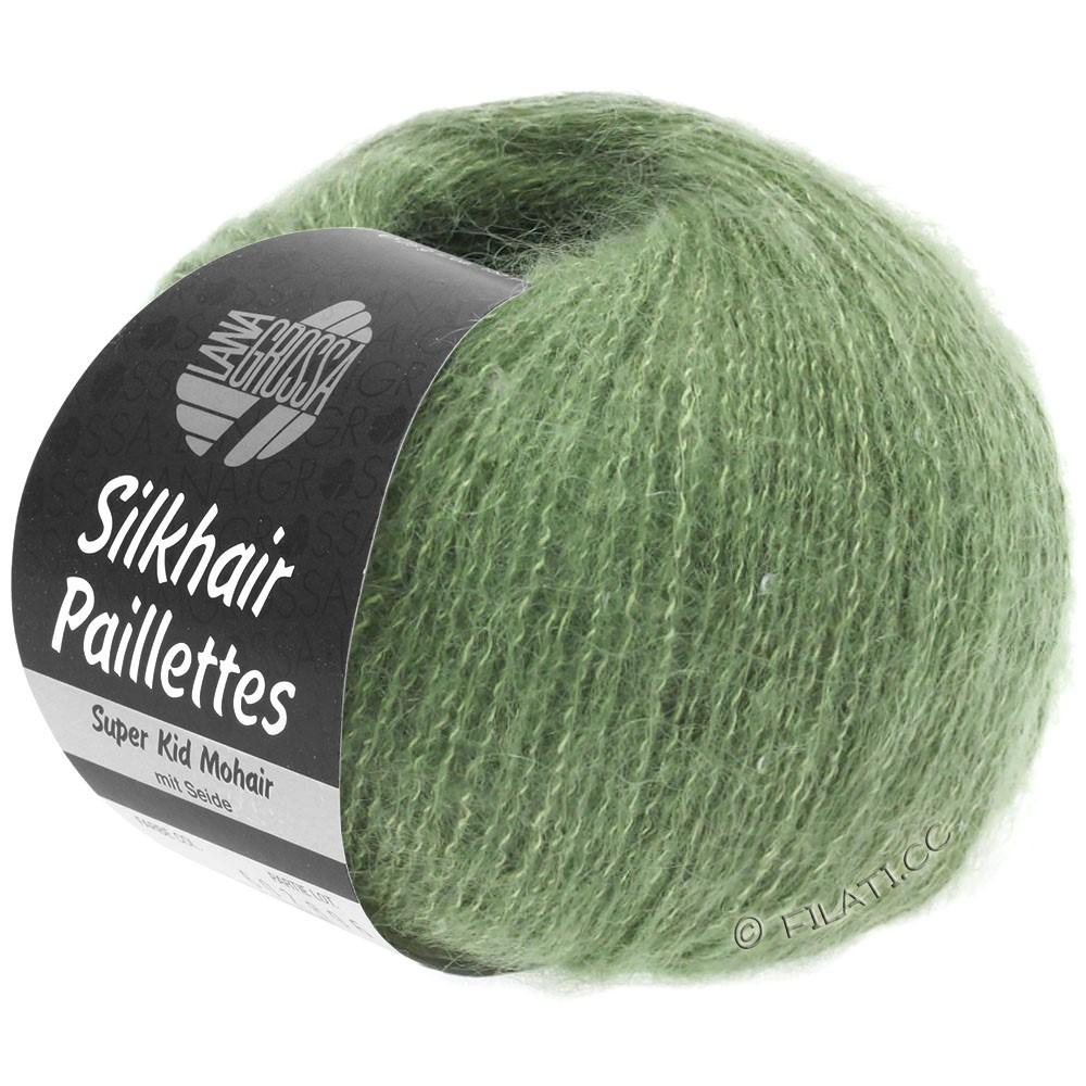 Lana Grossa SILKHAIR Paillettes | 420-зелёный