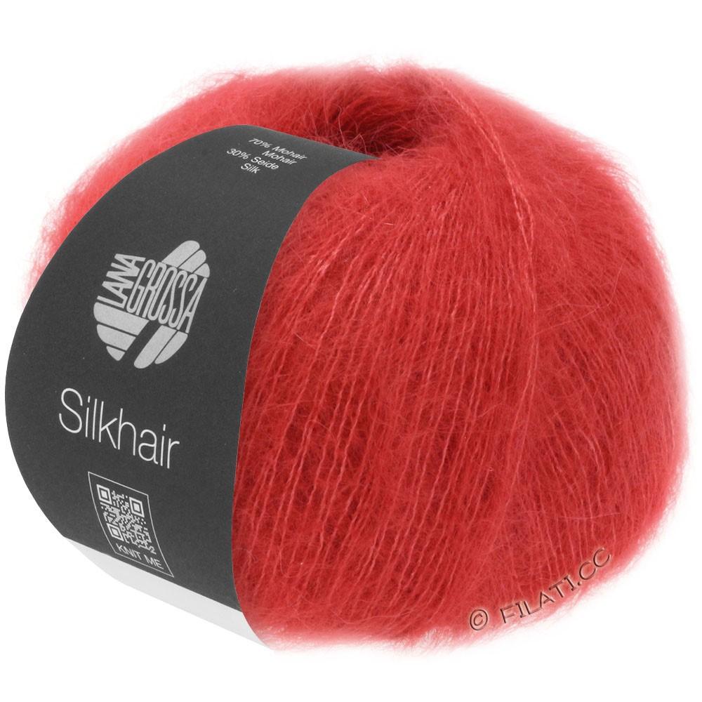 Lana Grossa SILKHAIR  Uni/Melange уни/меланж | 008-красная вишня