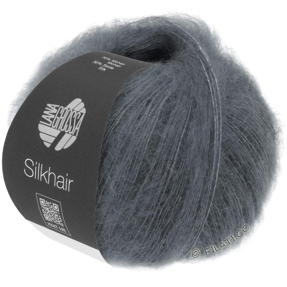 Lana Grossa SILKHAIR  Uni/Melange уни/меланж | 012-тёмно-серый