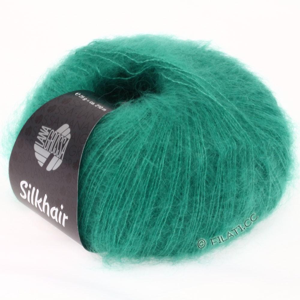 Lana Grossa SILKHAIR  Uni/Melange уни/меланж | 022-зелено-бирюзовый