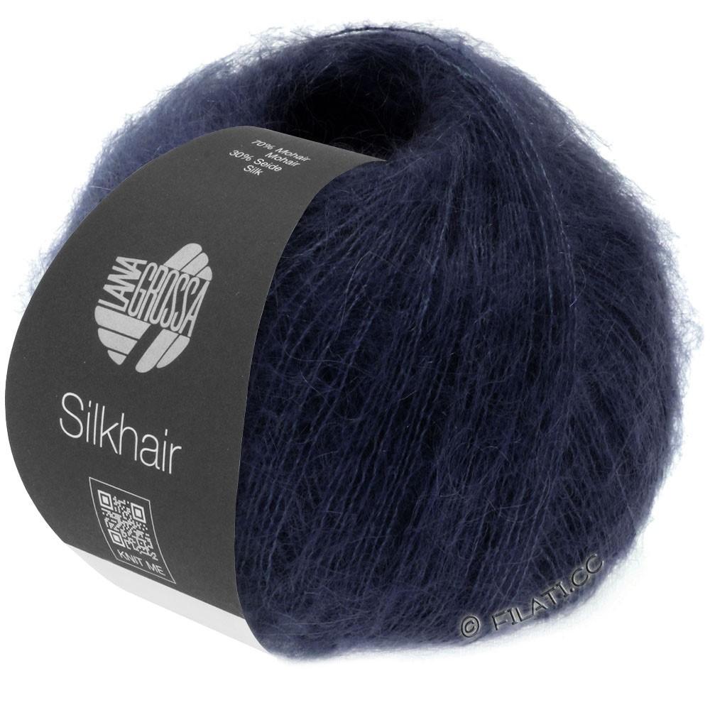 Lana Grossa SILKHAIR  Uni/Melange уни/меланж | 027-тёмно-синий