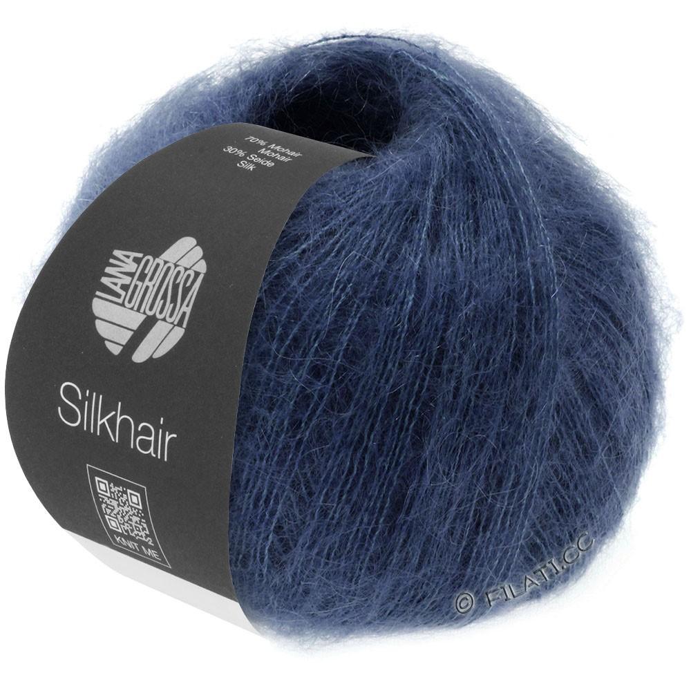 Lana Grossa SILKHAIR  Uni/Melange уни/меланж | 043-синий