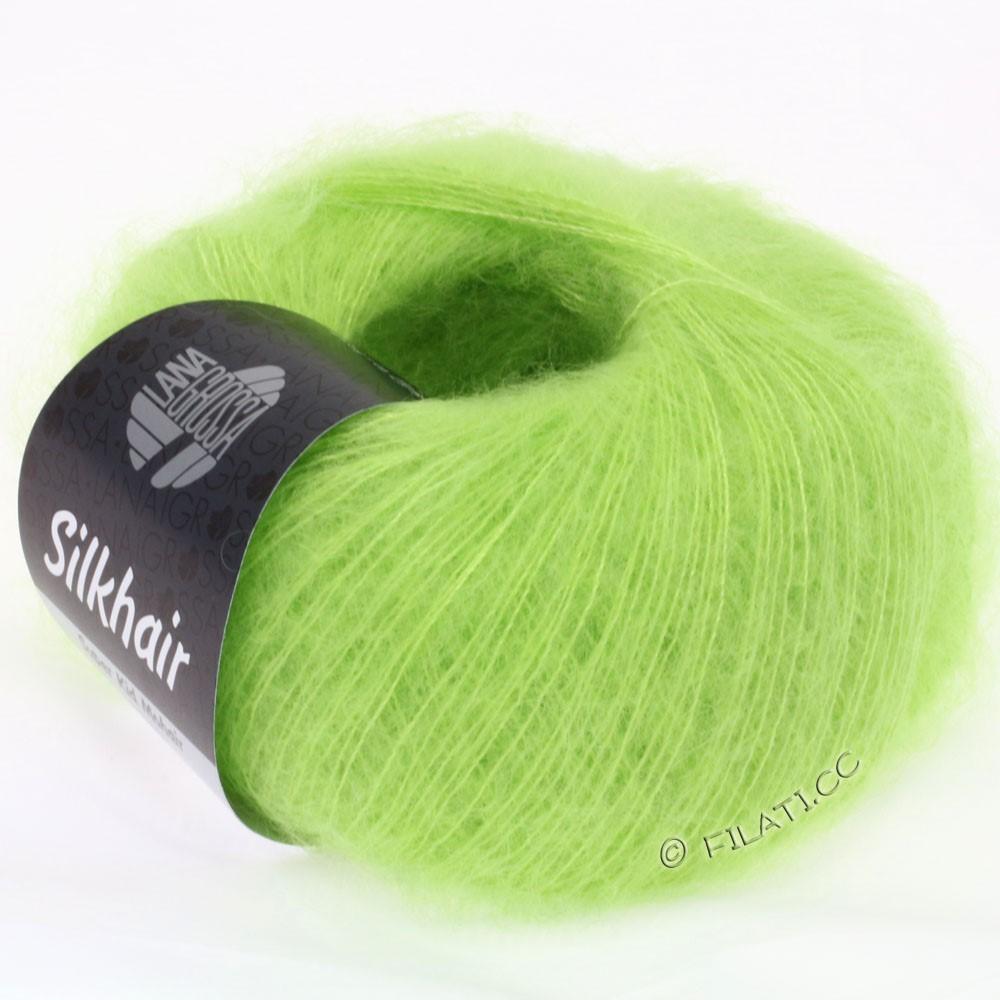 Lana Grossa SILKHAIR  Uni/Melange уни/меланж | 054-светло-зелёный