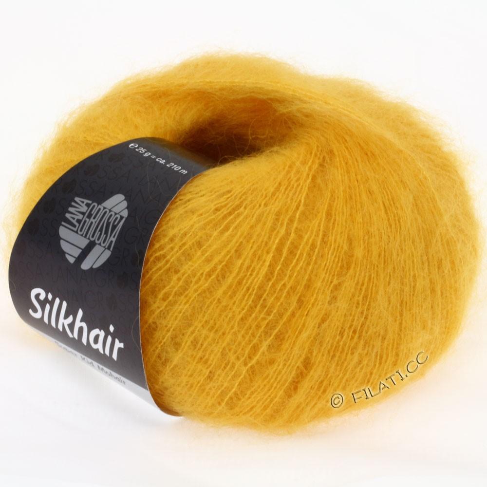 Lana Grossa SILKHAIR  Uni/Melange уни/меланж | 067-тёмно-желтый