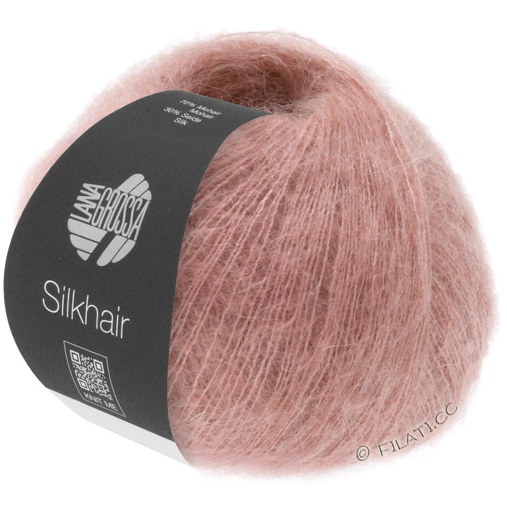 Lana Grossa SILKHAIR  Uni/Melange уни/меланж | 074-розовое дерево