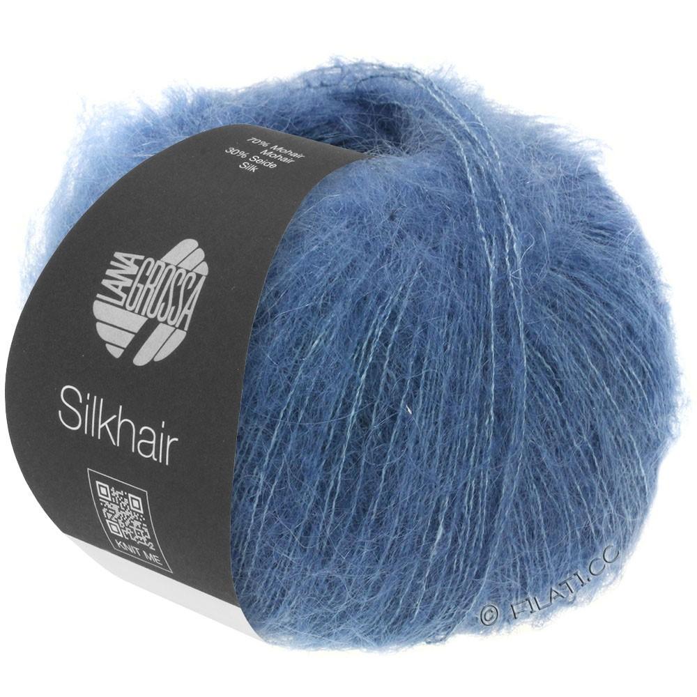 Lana Grossa SILKHAIR  Uni/Melange уни/меланж | 079-тёмно-синий