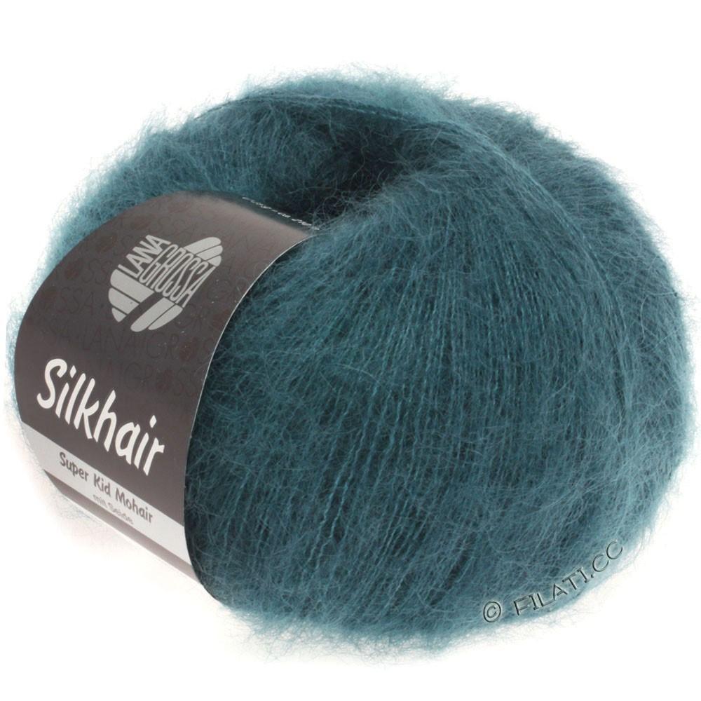 Lana Grossa SILKHAIR  Uni/Melange уни/меланж | 083-тёмно сине-зеленый
