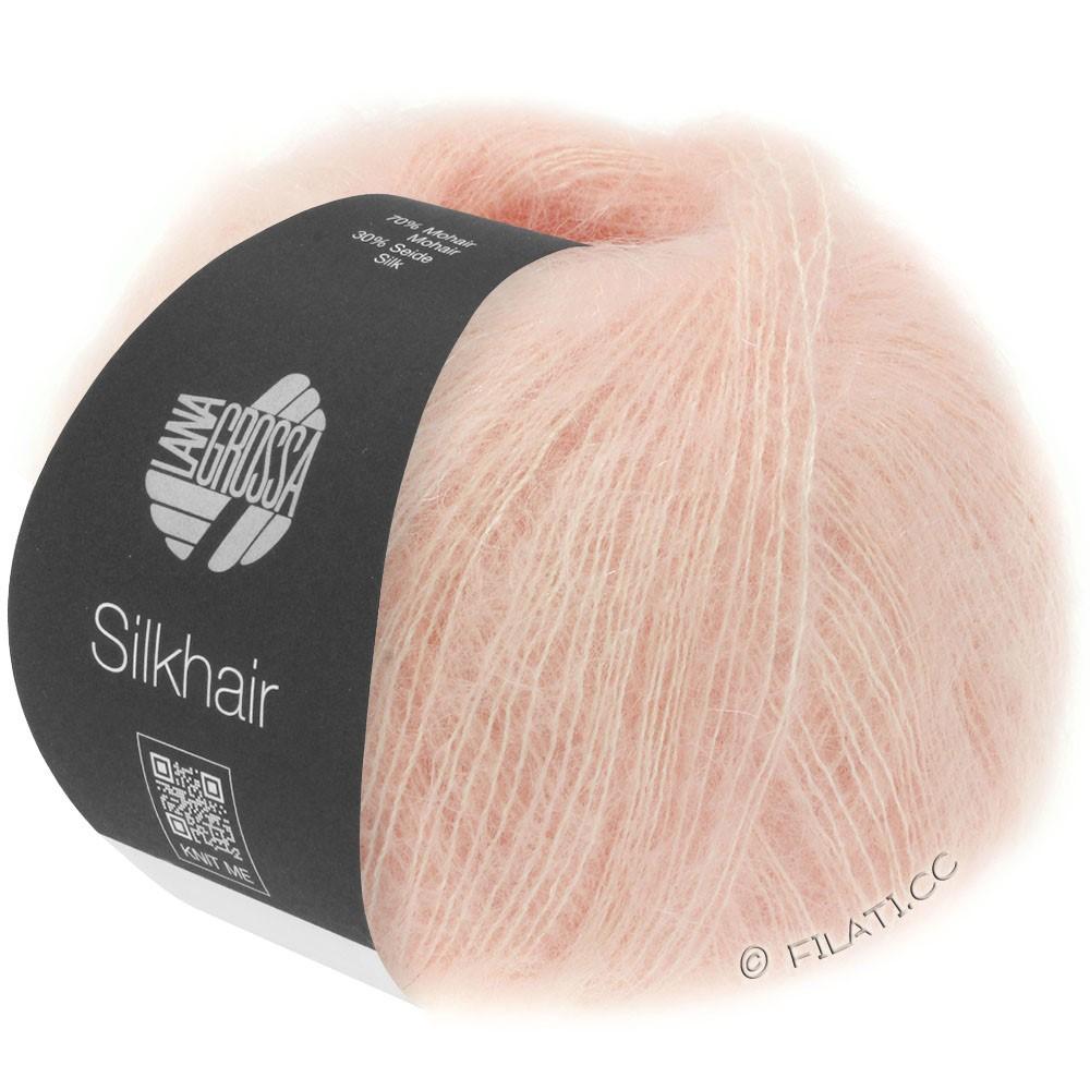 Lana Grossa SILKHAIR  Uni/Melange уни/меланж | 086-розовый
