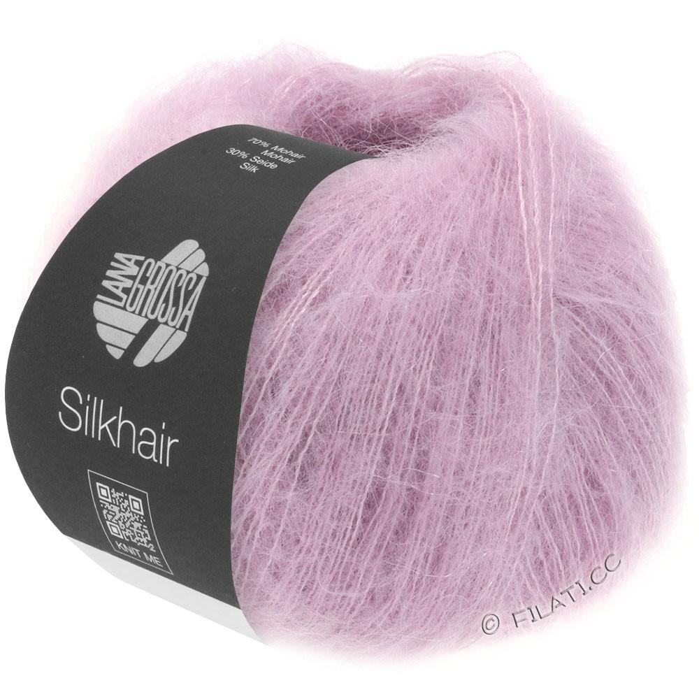 Lana Grossa SILKHAIR  Uni/Melange уни/меланж | 087-мягко-фиолетовый